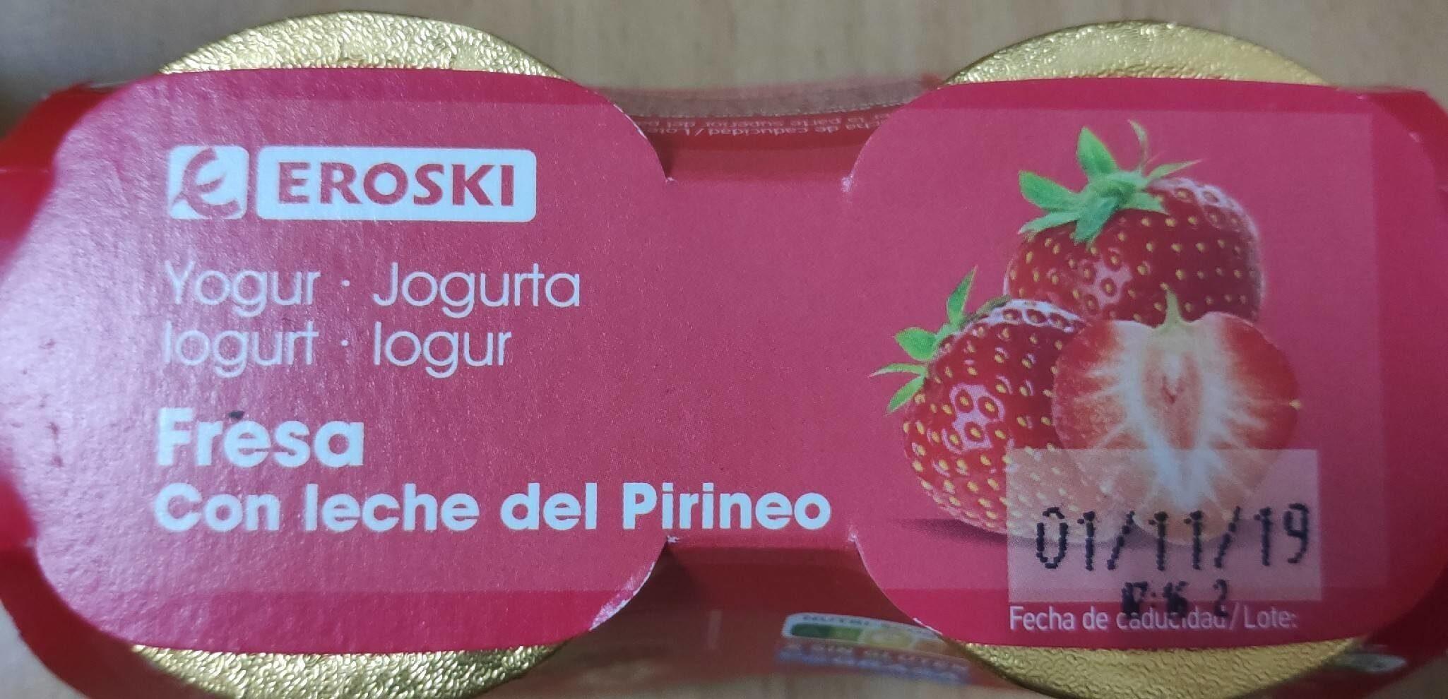 Yogur Fresa con Leche del Pirineo - Producto
