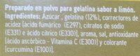 Preparado para gelatina sabor limón - Ingrédients - es