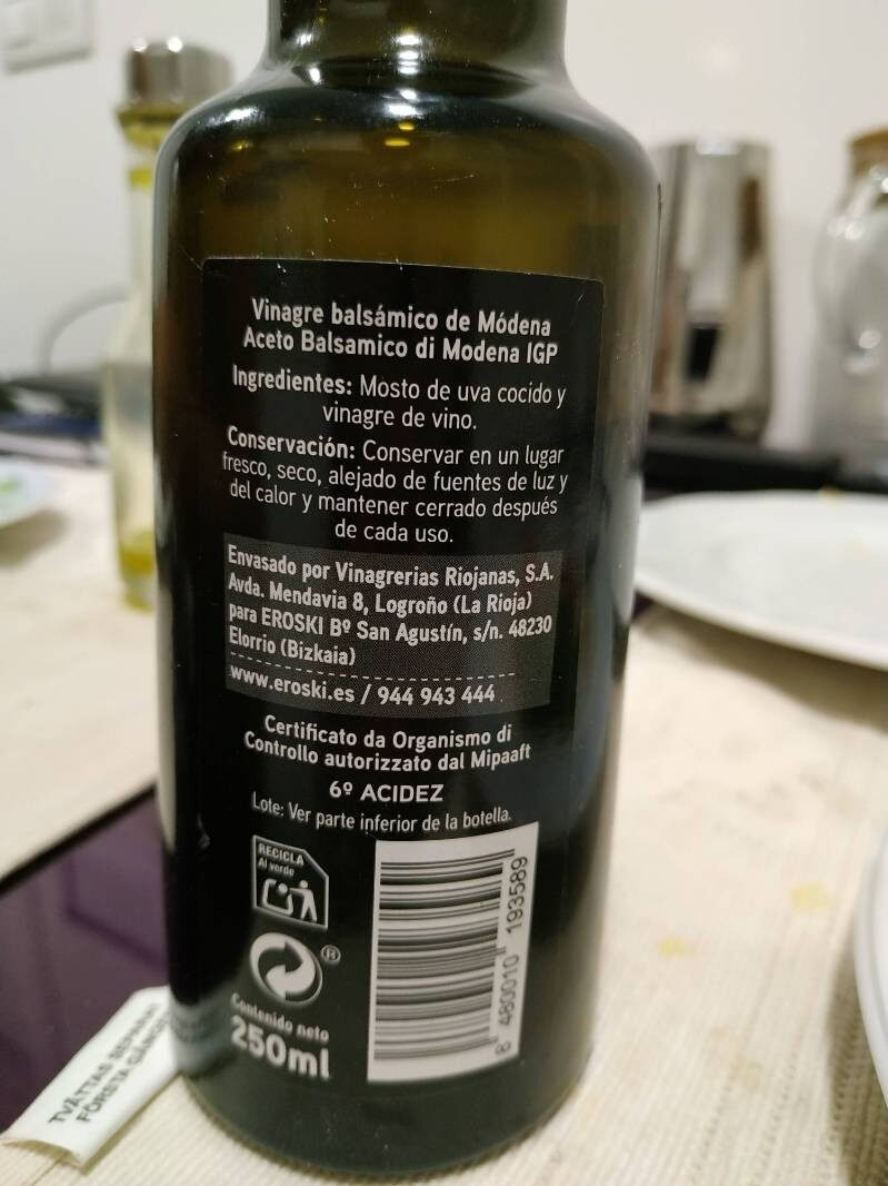Aceto Balsámico di Modena IGP - Nutrition facts