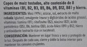 Corn flakes - Ingrediënten - es