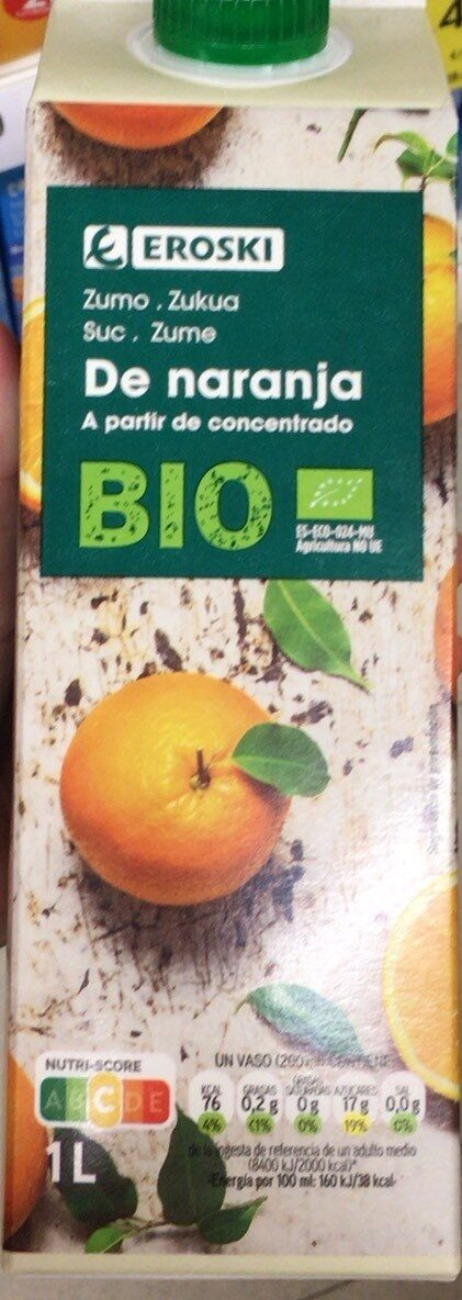 Zumo de naranja bio a partir de concentrado - Product - es