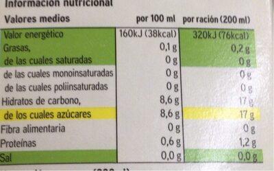 Zumo de naranja bio a partir de concentrado - Voedingswaarden - es
