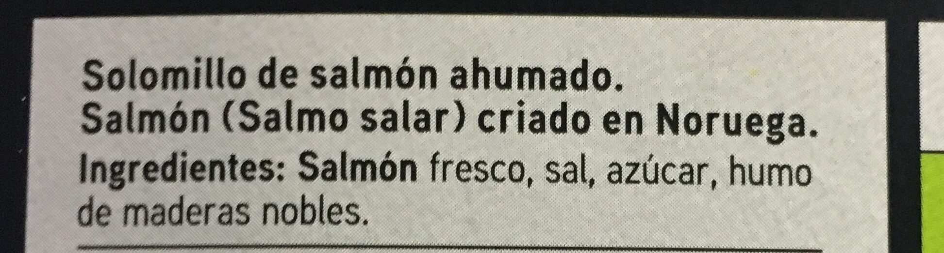 Seleqtia - Solomillo de salmón - Ingredientes
