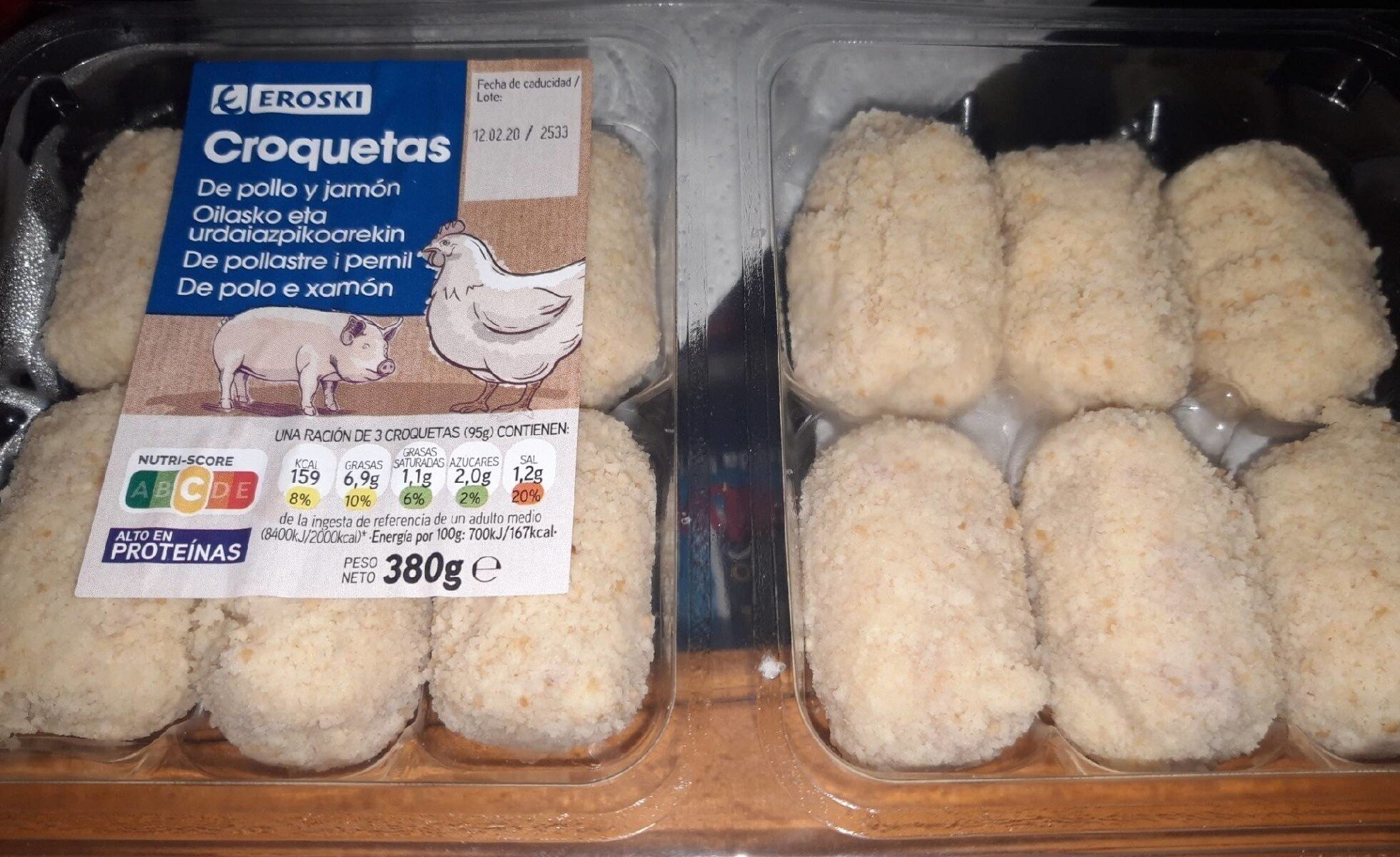 Croquetas de pollo y jamon - Product - es