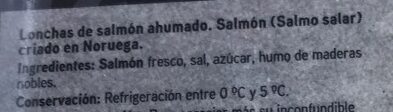 Salmón noruego ahumado Seleqtia - Ingredients