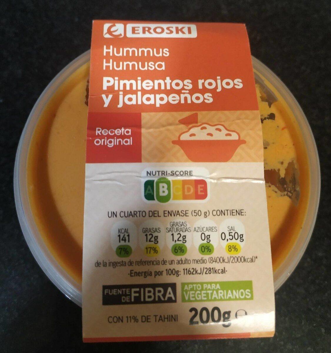 Hummus pimientos rojos y jalapeños - Produit - es