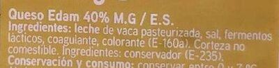 Queso edam - Ingredients