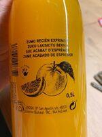 Zumo Recién Exprimido - Ingrediënten - es
