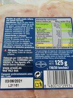 Muslito de pollo asado relleno de jamón serrano - Ingredients - es