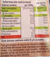 Albóndiga de pollo - Informació nutricional - es