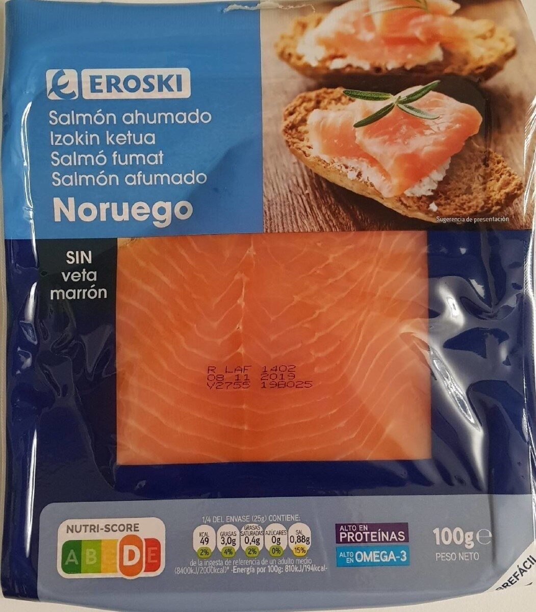 Salmón ahumado Noruego - Producto