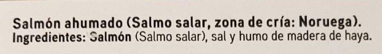 Salmón ahumado Noruego - Ingredientes