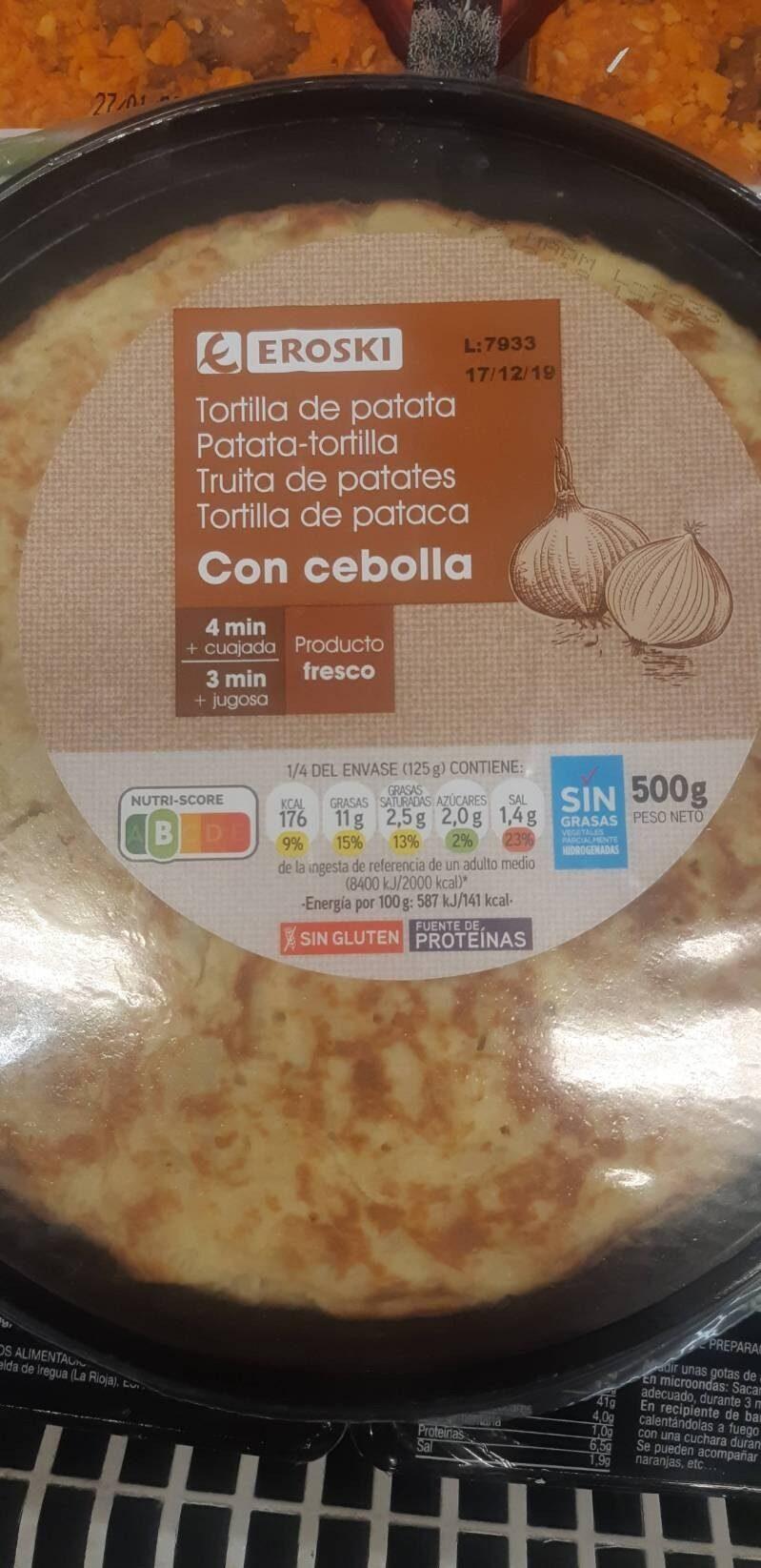 Tortilla de patata con cebolla - Produit - es