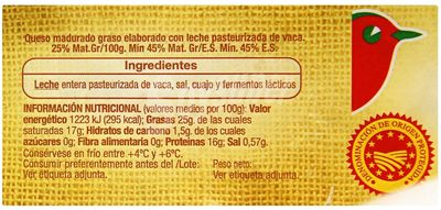 Queso Arzúa Ulloa AUCHAN - Nutrition facts