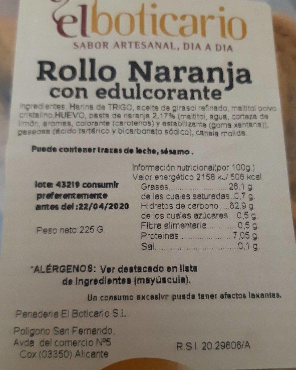 Rollo Naranja con edulcorante - Producto
