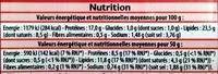 Lardons Fumés (Qualité supérieure) - Informations nutritionnelles - fr