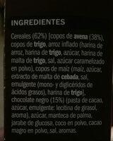 Céréales Muesli avec chocolat noir - Ingredients - es