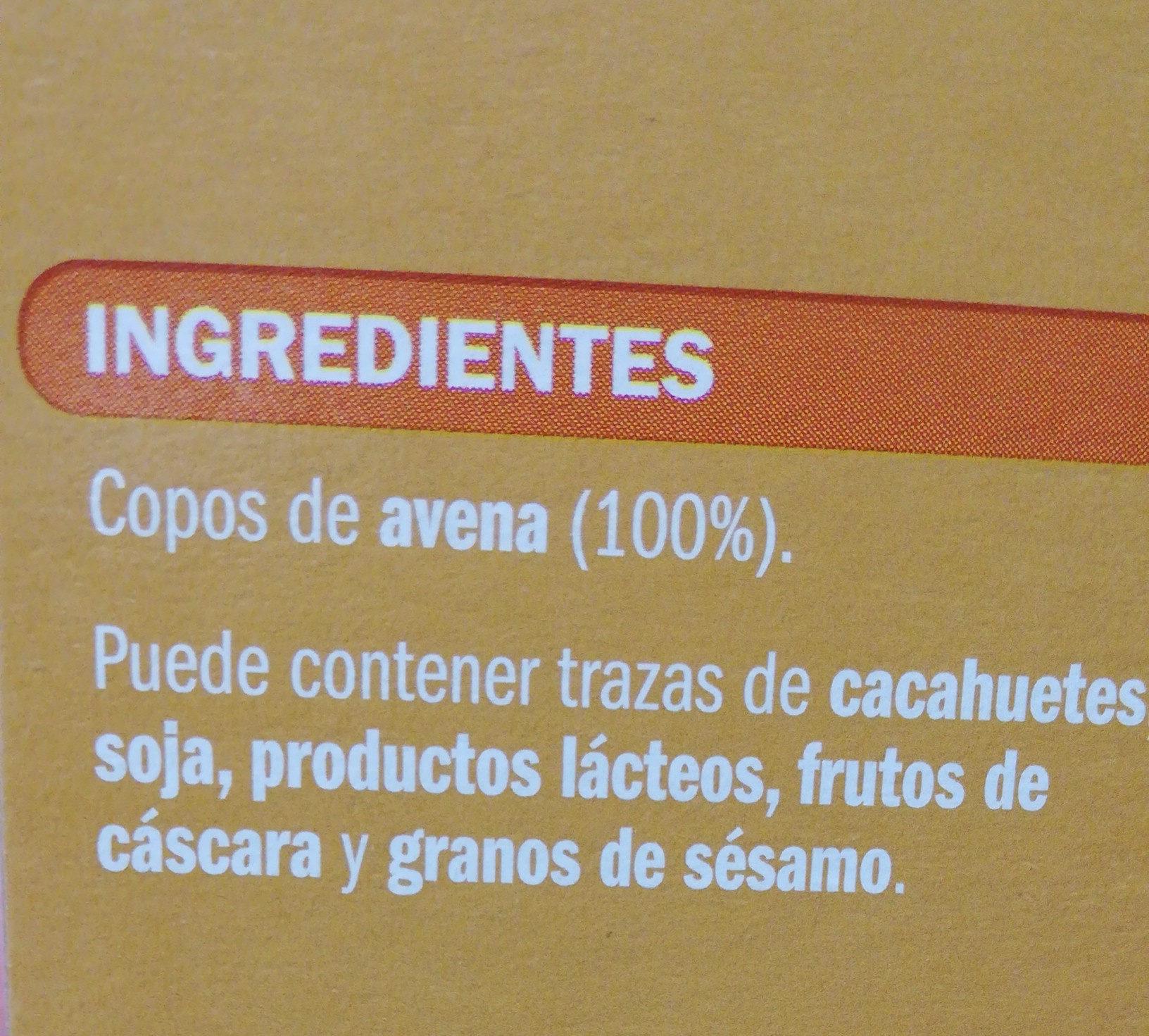 Copos de Avena - Ingrédients