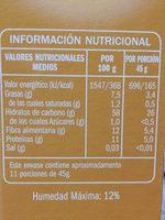 Copos de Avena - Informations nutritionnelles