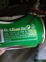 Cerveza Lager - Ingrédients - es