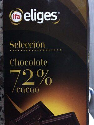 Chocolate 72% - Información nutricional