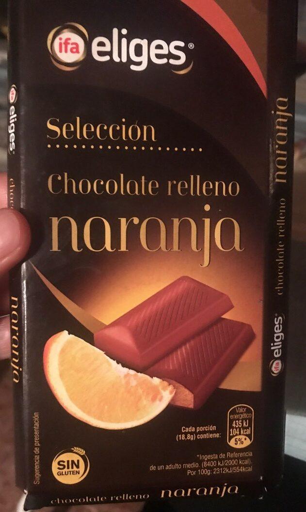 Chocolate relleno de naranja - Producte
