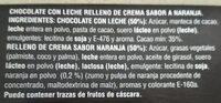 Chocolate relleno de naranja - Ingredients