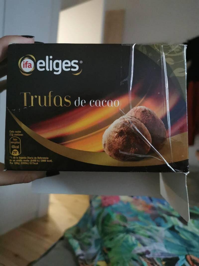 Trufas de cacao - Producto