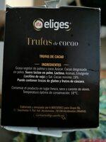 Trufas de cacao - Ingredientes