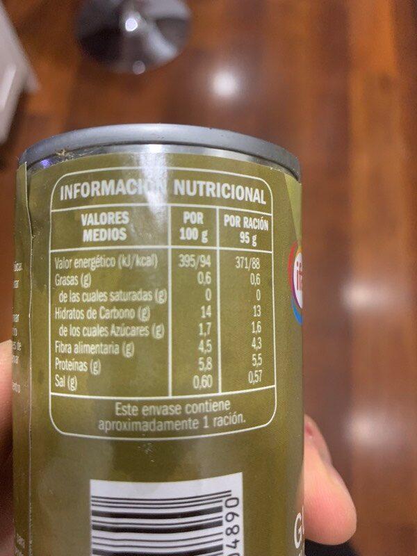 Guisantes - Voedingswaarden - es