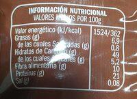 Garbanzo Lechoso EXTRA - Nutrition facts - es