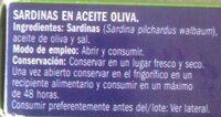 Sardinillas en aceite de oliva - Ingredients
