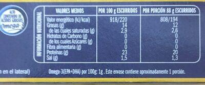 Sardinas aceite girasol - Informations nutritionnelles - es