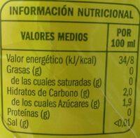 Refresco limón ifa eliges - Información nutricional