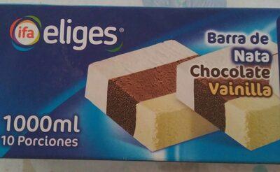 Barra de nata chocolate vainilla - Producte