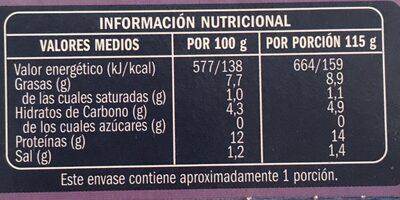 Trozos de calamares en su tinta - Informations nutritionnelles - fr