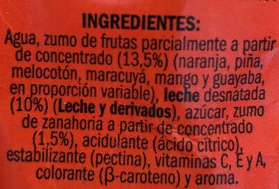 Fruta Leche Tropical. ifa - Ingredientes - es