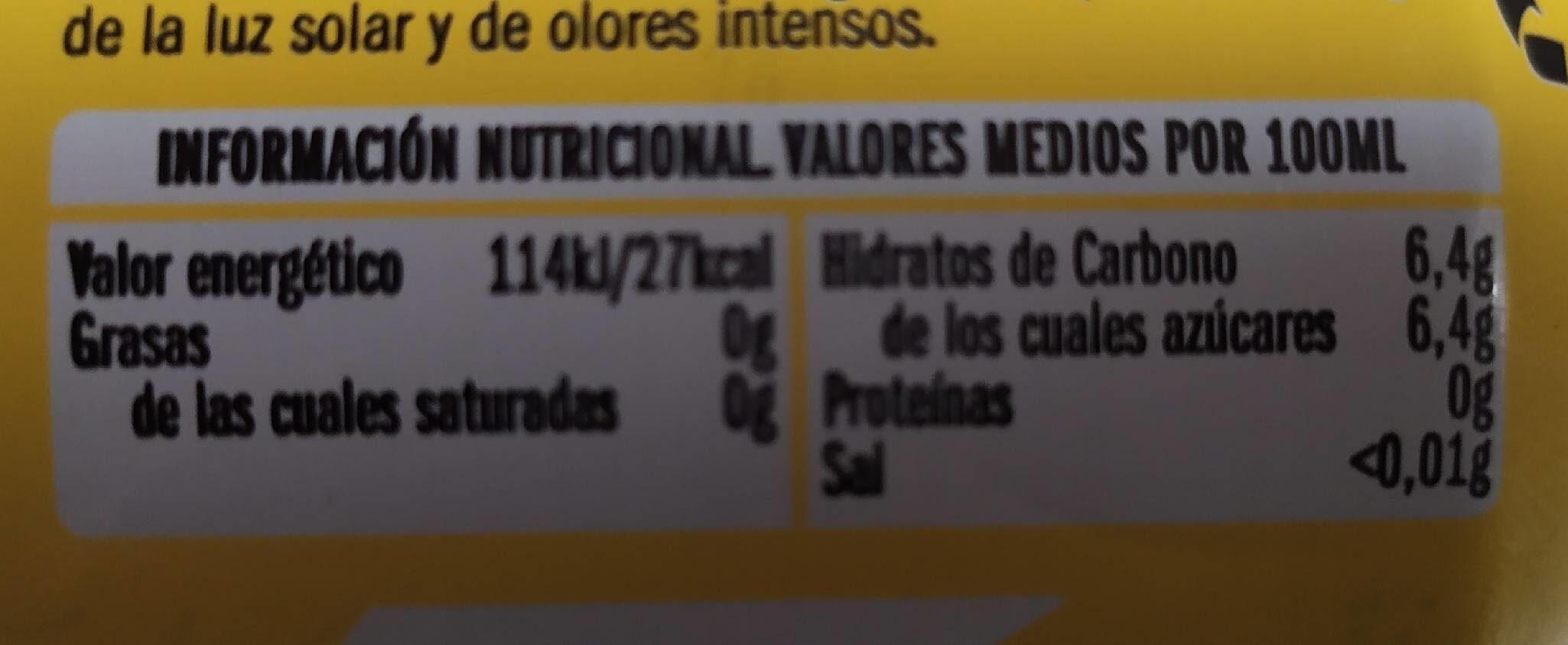 Tónica ifa - Nutrition facts - es
