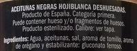 Aceituna negra hojiblanca deshuesada - Ingredients - es
