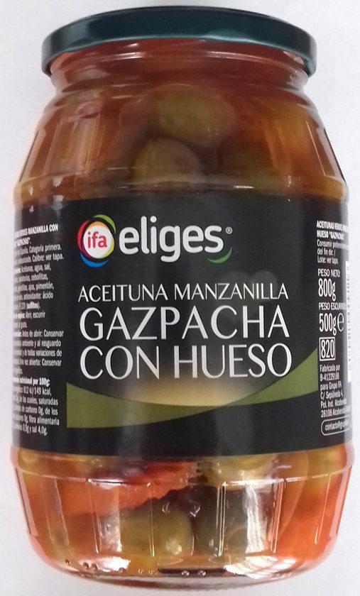 Aceituna manzanilla gazpachos con hueso - Produit - es