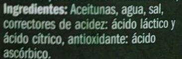 Aceituna Manzanilla con Hueso - Ingredients