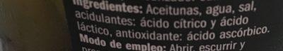 Aceituna Verde Sin Hueso Barril - Ingredients