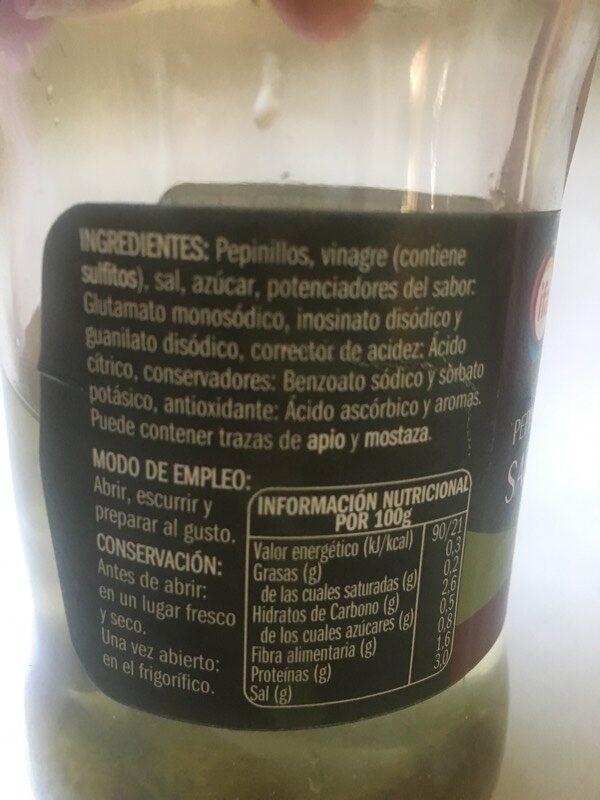 Pepinillos sabor anchoa - Ingrédients - es