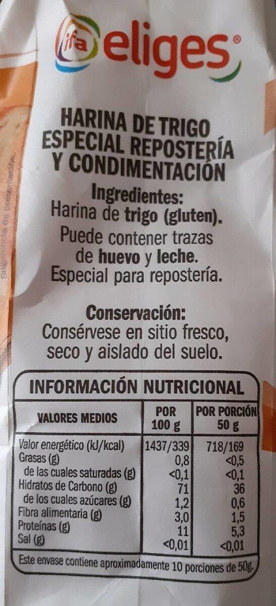 Harina de trigo espeial reposteria y condime tacion - Producte