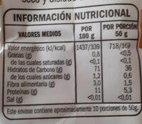 Harina de trigo espeial reposteria y condime tacion - Informació nutricional