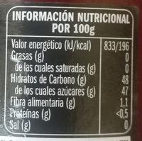 Mermelada de frutas del bosque - Información nutricional