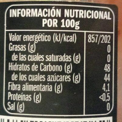 Mermelada de frambuesa extra - Voedingswaarden - es