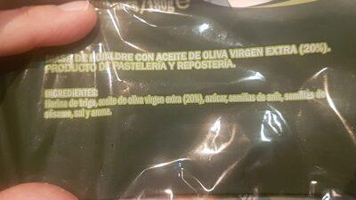 Torta Aceite Paquete - Ingredientes