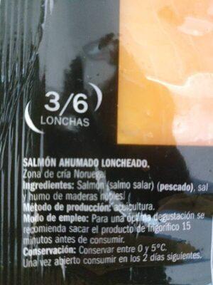 Salmon ahumado - Ingrediënten