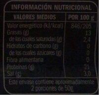 Salmon - Informations nutritionnelles - es